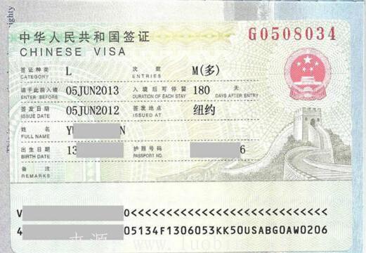 中国给外国人发放的签证类型有哪些?