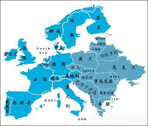 欧洲各个国家通行什么语言?